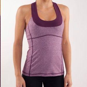LULULEMON | Scoop Neck Tank Top Bra Purple 10 Yoga